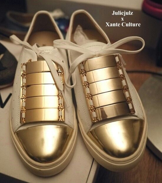 ladies' sneakers golden thang. by Xante. That's yours. make your own style of sneakers with #xante.