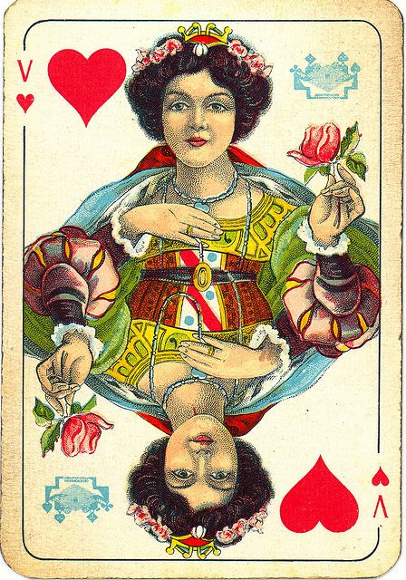 Dutch Playing Cards From 1920 1927 Queen Of Hearts By