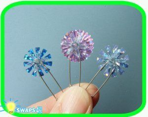 """SNOWY COUNTRY! ICELAND CANADA NORWAY ... Sparkle Snowflake Swap"""" Scout Girl Craft Kit-Swaps4Less"""