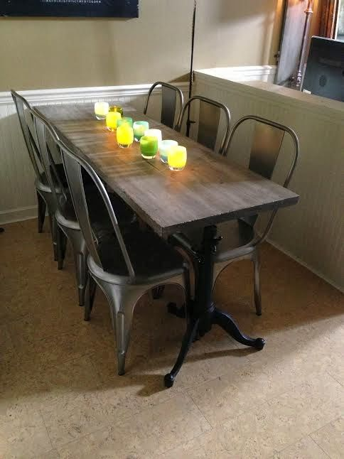The 25 best narrow dining tables ideas on pinterest for Narrow dining room table