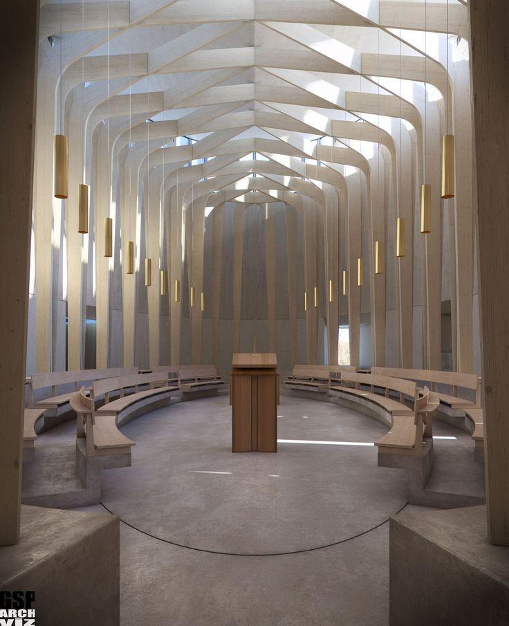 Bishop Edward King Chapel. niall McLaughlin Architects, UK