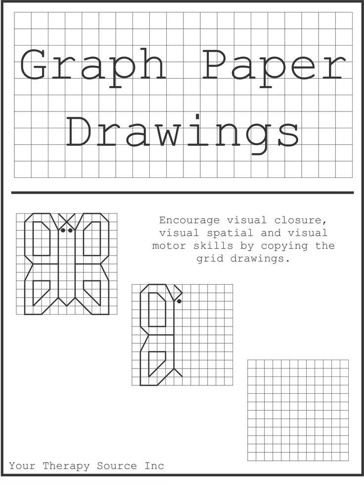 graph paper drawings