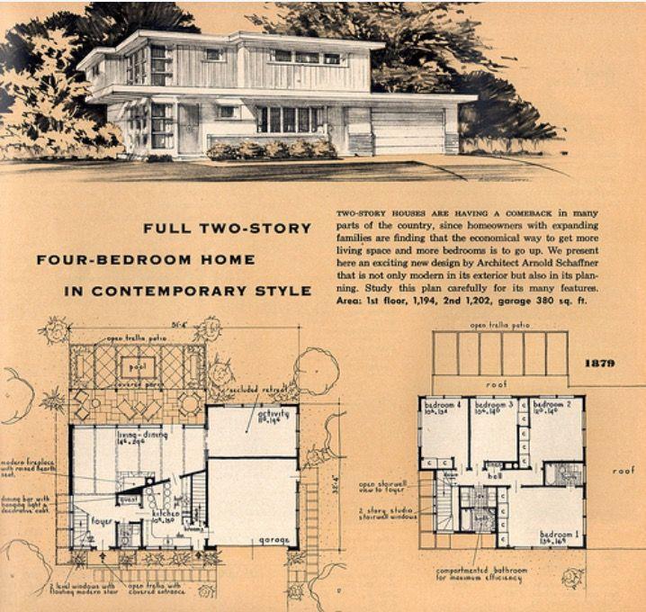 3217 best Mid Century Floor Plans images on Pinterest Floor plans - new blueprint design mulgrave