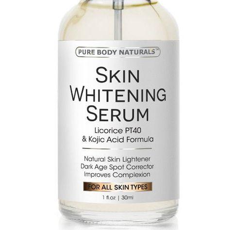 Skin Whitening Serum -Natural Skin Whitening Cream Treatment - Brighten Complexion, Lighten Dark Spots, Reduce Age Spots - Expert Formula Featuring Kojic Acid
