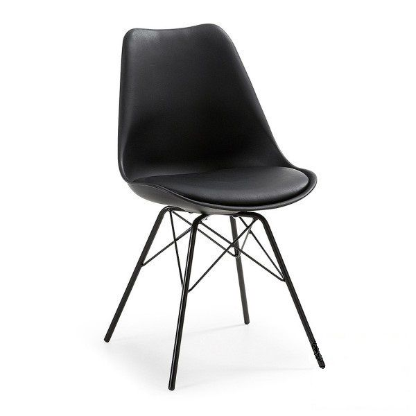 Пластиковый стул Тау с мягкой подушкой на металлических ножках приятно украсит любой интерьер.  В наличии имеются белый и черный цвета.  Идеально подойдет для кухни,баров,кафе,салонов  Заказ можно оформить на сайте www.modernosclasicos.com.ua