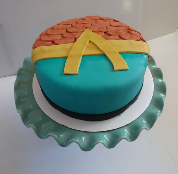 Aquaman Comic Cake