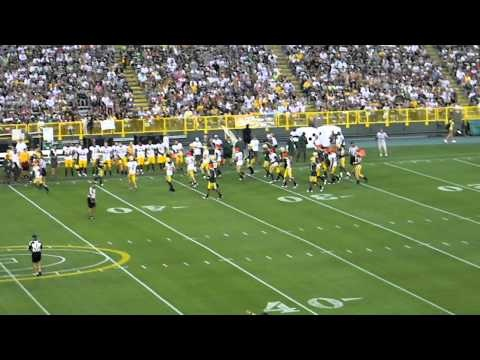 Greenbay Packers Family Night! I totally repinned some random persons video! Ha I think it is so cool that Lambeau is nearly full and people are having a great time regardless of the fact of that the game means nothing! Cheap and fun!
