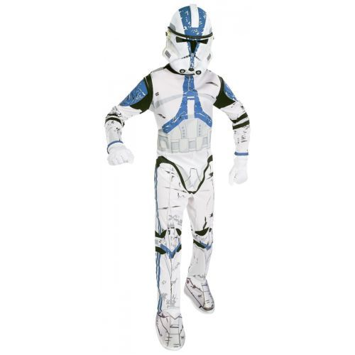 Clone Trooper Costume Star Wars Child Boys White & Blue Stormtrooper Halloween #Clothing, #Shoes #Accessories #Costumes, #Reenactment, #Theater #882010S