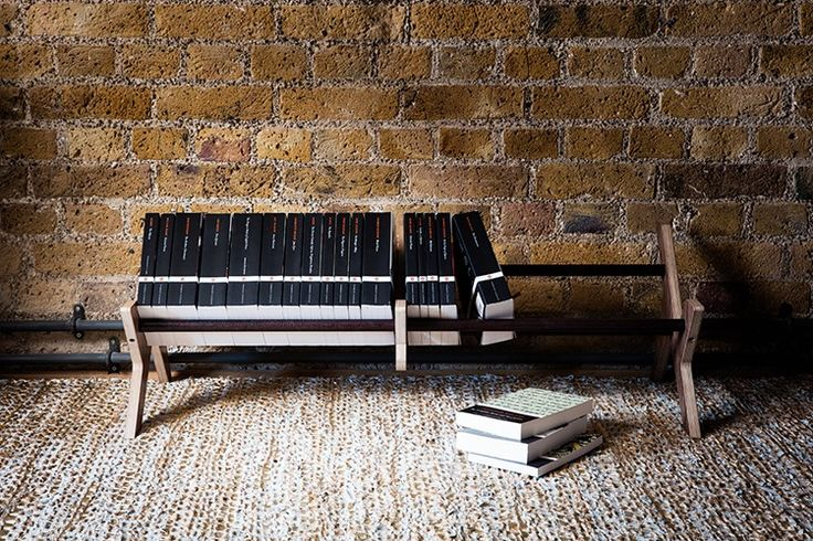 The Warehouse Home capsule collection includes this walnut stained plywood and rusted copper piping low bookcase, designed by Higgs & Crick together with Setyard.   Warehouse Home Design Magazine Capsule Collection | Styling by Lucy Gough | Photography by Oliver Perrott