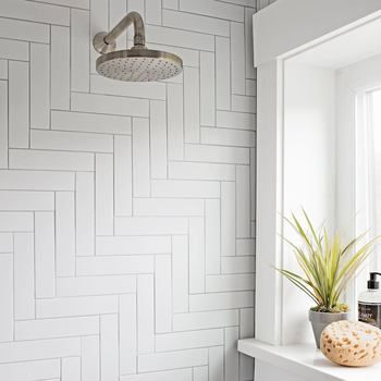 Clearance Metro Subway Tile – Matte White 2″ x 8″ Ceramic Wall Tile $2.39 Per Square Foot