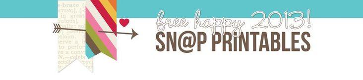 Simple Stories Snap! Free printables