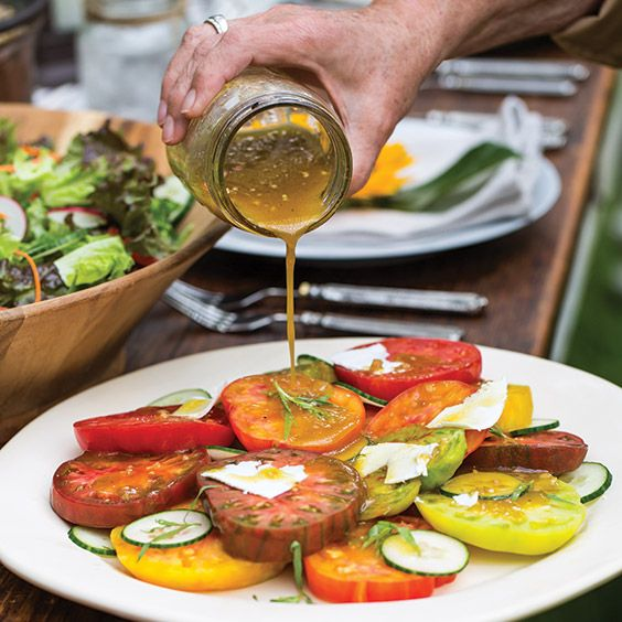 Heirloom Tomato Salad with Shallot Vinaigrette