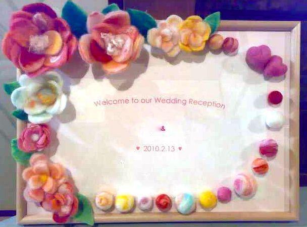 羊毛フェルトのハリネズミ、アザラシ、お花、シート、ウェディングボード : アトリエteyney 羊毛フェルト教室