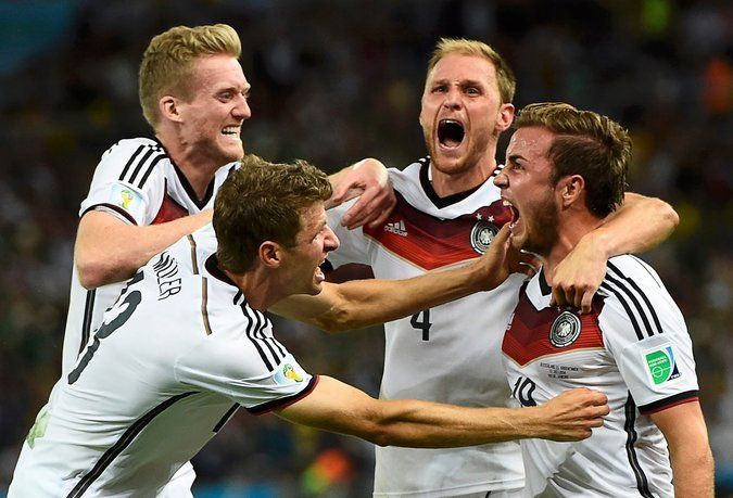 Congratulations Germany on winning the 2014 World Cup.  Götze scores the winning goal in overtime.