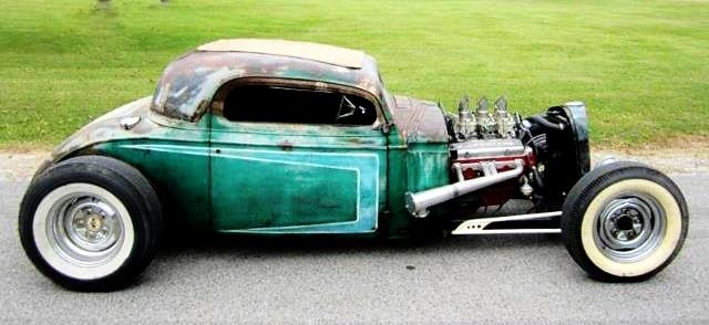 A simpler Rat Rod. I really dig this!