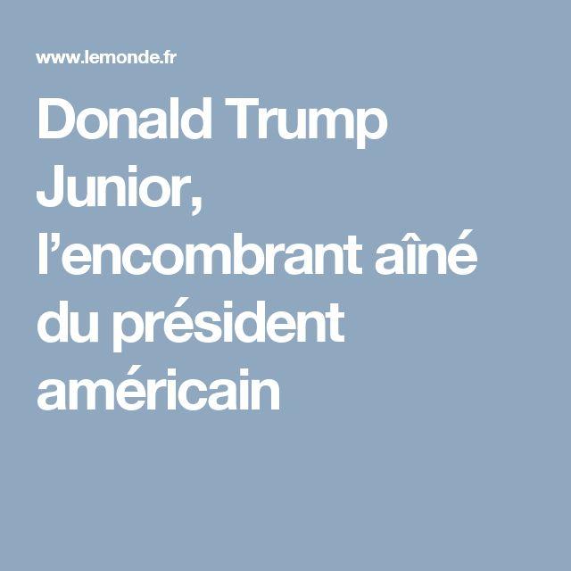 Donald Trump Junior, l'encombrant aîné du président américain