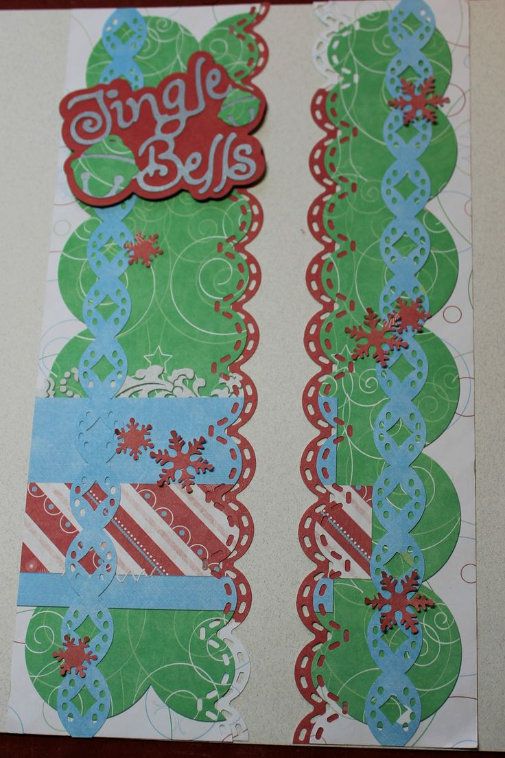 Elementary school scrapbook ideas - Candy Cane Paper With A Cricut Title Cardstock Paper Accents Are Made With Platinum