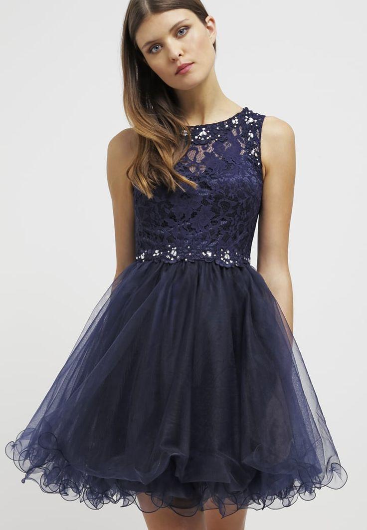 Balowa granatowa sukienka na studniówkę sylwestra lub wesele