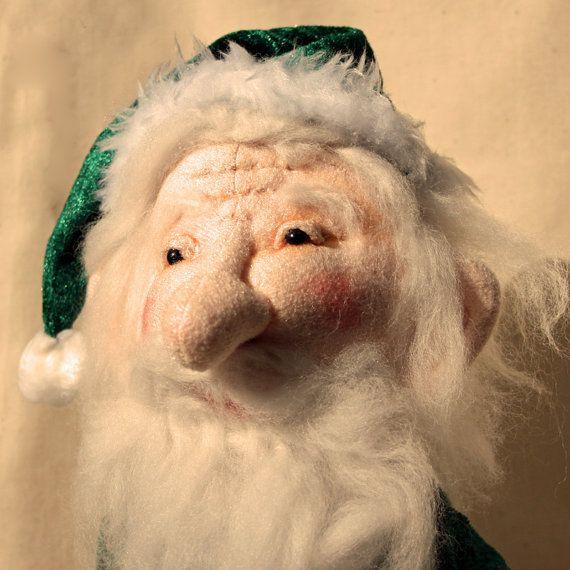 OOAK Cloth Art Doll  Father Christmas by CornishDragon on Etsy