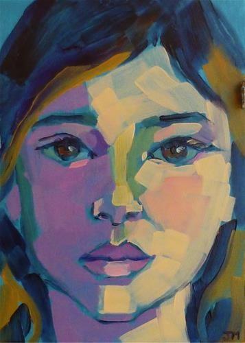 """Half-Hour Portrait"" - Original Fine Art for Sale - © Jessica Miller. Email to get your own!"