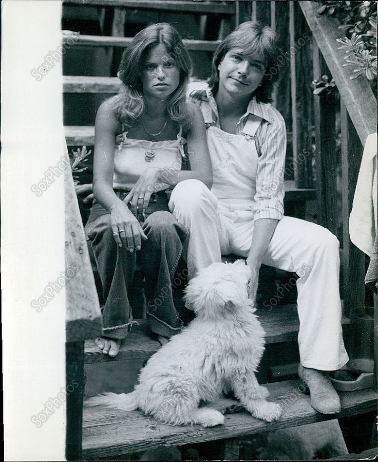 CA107 1970's Hollywood Movie Stars Kay Lenz Husband David Cassidy Photo  not happy