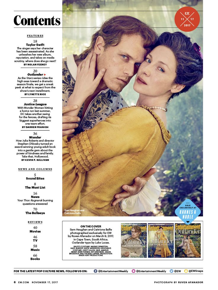 Outlander's Entertainment Weekly Cover Feature Article | Outlander TV News