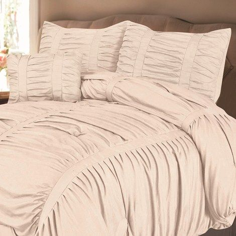 4pc Queen Bedding Set - Ruched