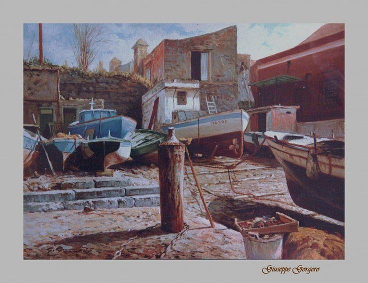 Granatello by giuseppe gorgero  Opera ad olio di molti anni fa. cm. 30 x 40