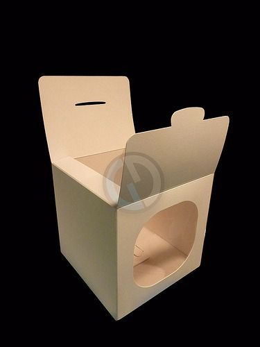 Caja Con Visor Para Cupcakes/ Tazas/etc. Pack X 25 Unidades! - $ 413,00