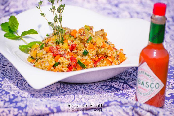 Quinoa+e+Bulgur+con+Verdure+Croccanti+Menta+e+Basilico