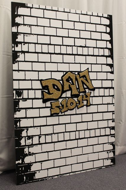 NYC Graffiti Wall Sign-in Board for NYC Themed Bar Mitzvah