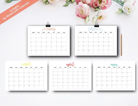 Best 25+ Monthly planner printable ideas on Pinterest Monthly - printable monthly planner