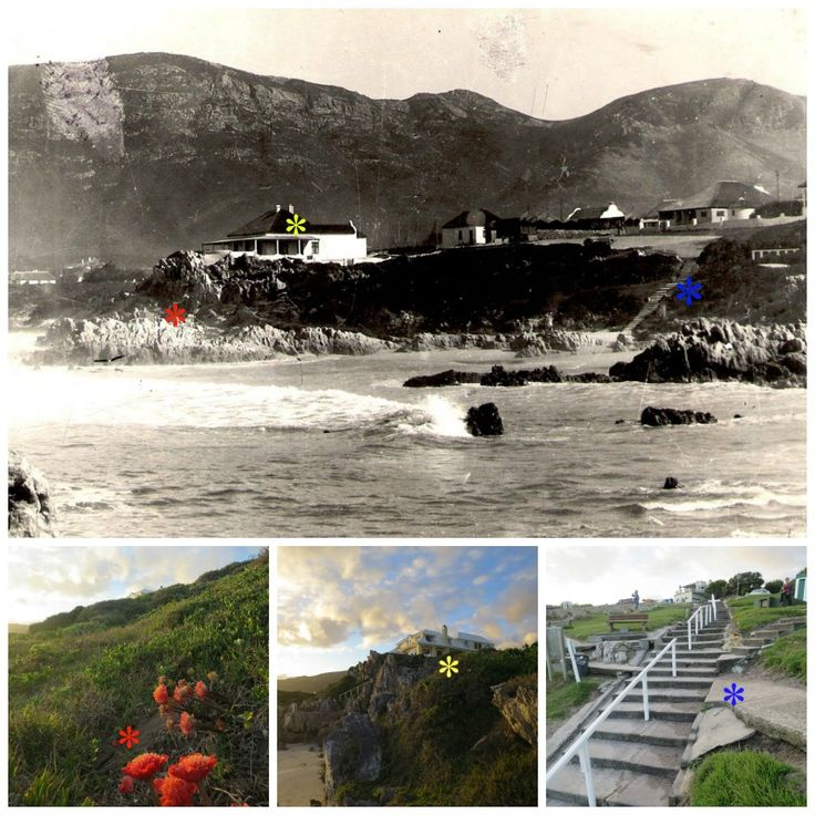 Voelklip Beach circa 1945 and today