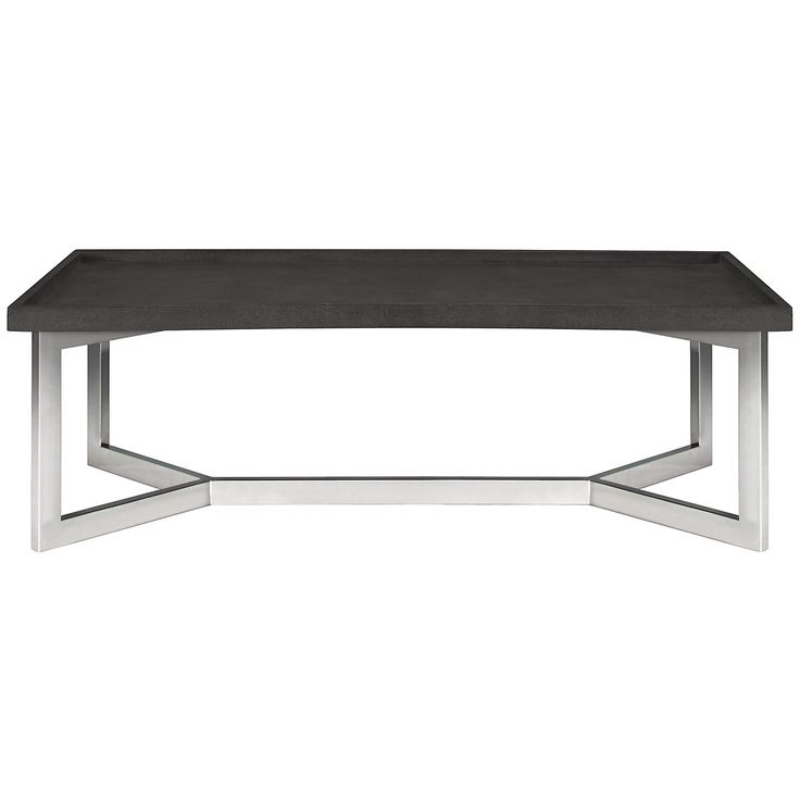 A Celebration Of Modern Metalworking And Natural Elements, Bernhardtu0027s  Stratton Coffee Table Features A Faux Shagreen Cover That Emulates The Skin  Of ...