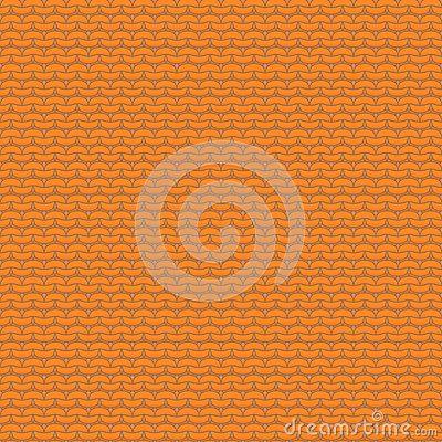 Orange knitted seamless pattern, reverse stockinette stitch, background