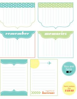 Free Summer/Travel Journal Cards & Labels {July 2012 Issue} from Scrap365