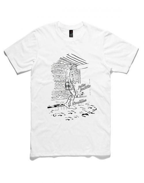 Black Drawing and Text White Mens Unisex Tshirt by Julia Jacklin
