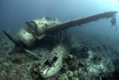 Plane Crash Underwater Under Water Pinterest Scuba