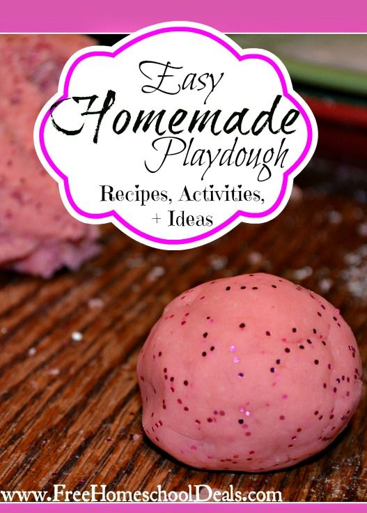 How to Make Easy Homemade Play Dough + 50 Play Doh Recipes and Ideas from Free Homeschool Deals