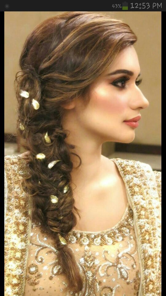 Mehndi Party Hairstyle : Flower braid hairstyless pinterest hair style