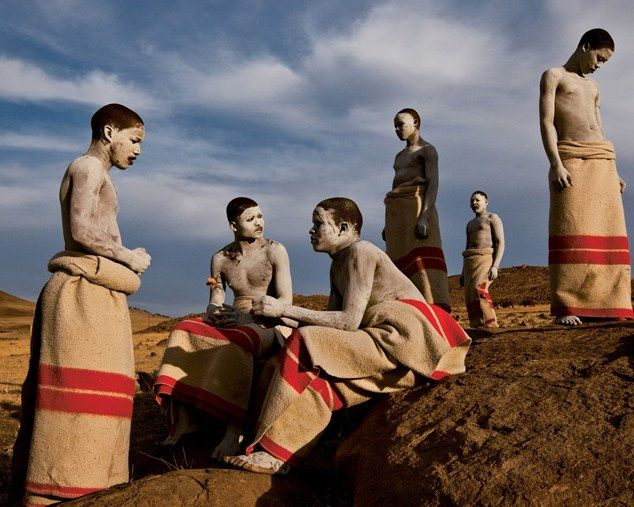Xhosa-men-during-initiation-time-photographer-James-Nachtwey