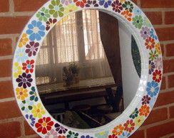 Espelho Flores Coloridas