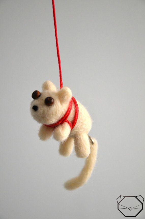 Dog Car Mirror Charm  Car Accessories  by KubuHandmade on Etsy
