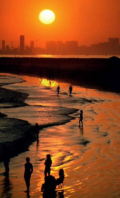 Sunset in Seal Beach, California Spent my summers here as a teenage surfer, with my surfer brother Mike.