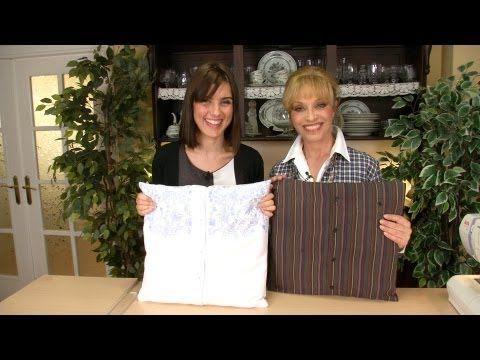 Como Hacer un Cojin con Camisa de Hombre o Blusas Recicladas