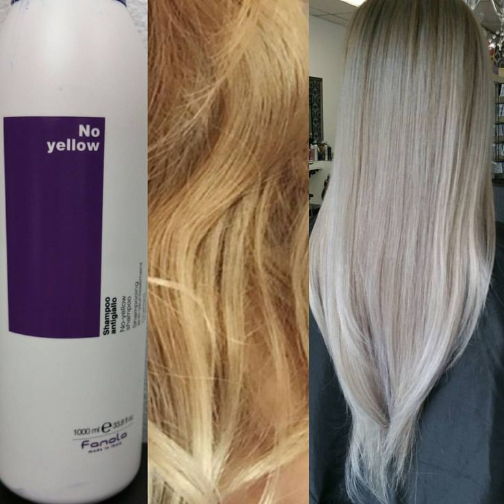 """sammi wang on Instagram: """"Used @fanola_usa no yellow shampoo to tone my client. She has a level 9 and I applied on dry hair while getting her root retouch. Result AMAZING """""""