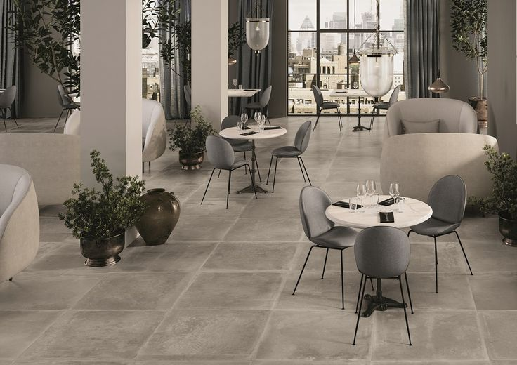 Dust Collection by Provenza #tiles #stone #grey #surfaces #restaurant #interiordesign