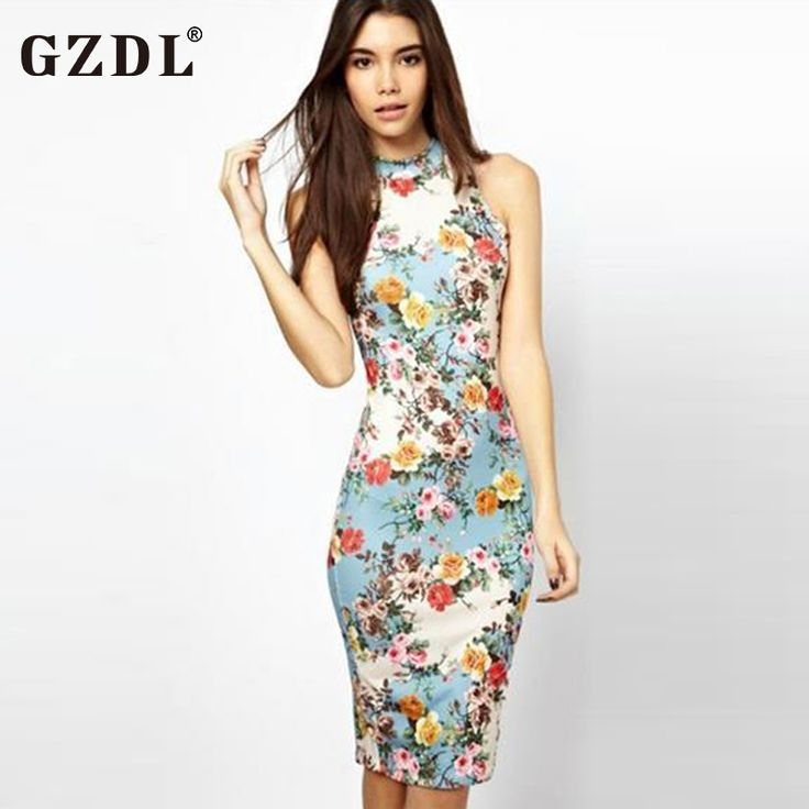 New Spring-Summer Dress Sleeveless Floral Print Cheongsam/Bodycon - Club/Evening/Party //Price: $19.05 & FREE Shipping //     #hashtag2