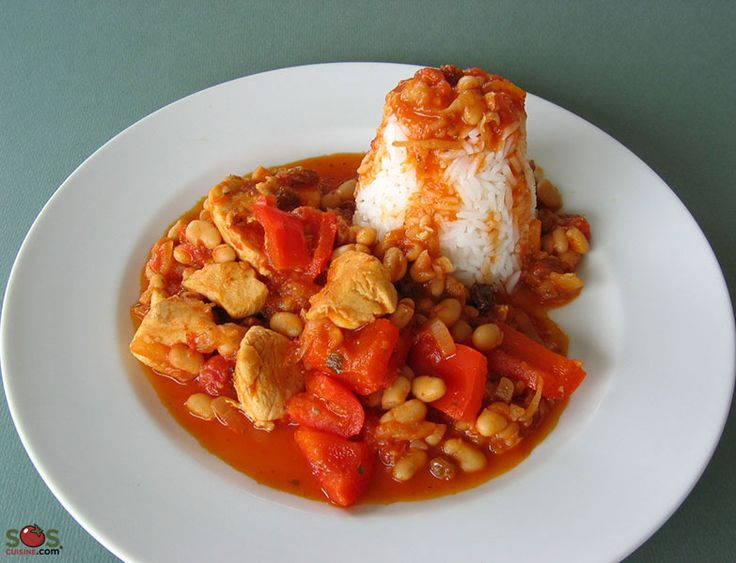 Recette - Mijoté de poulet et poivrons aux agrumes | SOS Cuisine