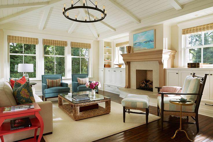 cottage living room by Martha Dayton Design